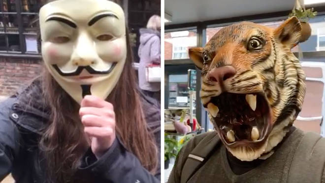 Would shopkeepers be happy with a Guy Fawkes or Tiger King mask?