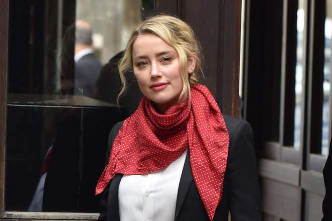 Amber Heard arrives at the Royal Courts Of Justice in London