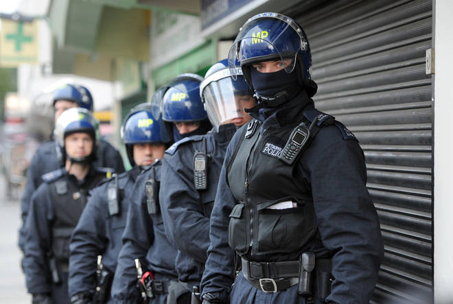 Armed police raided the house (file image)
