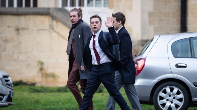 Owen Jones outside Snaresbrook Crown Court in January