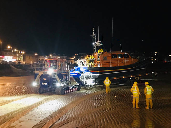 St Ives Lifeboat condemned the 'shocking' incident