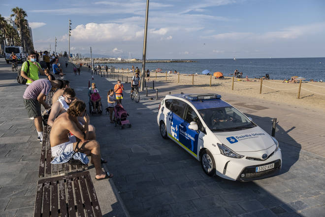 Police have been patrolling Spanish beaches