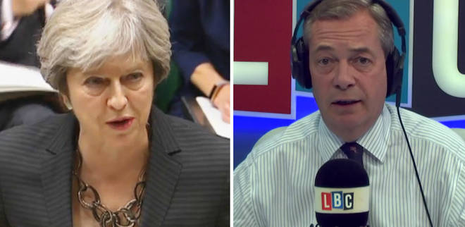 Theresa May Nigel Farage
