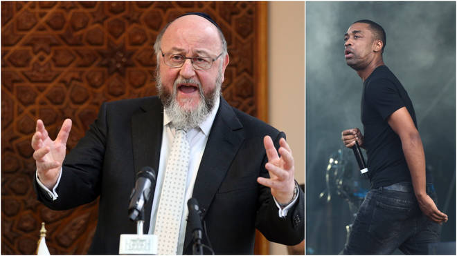"""Britain&squot;s Chief Rabbi has accused Twitter of lacking """"responsible leadership"""" in its response to anti-Semitic posts by grime artist Wiley"""