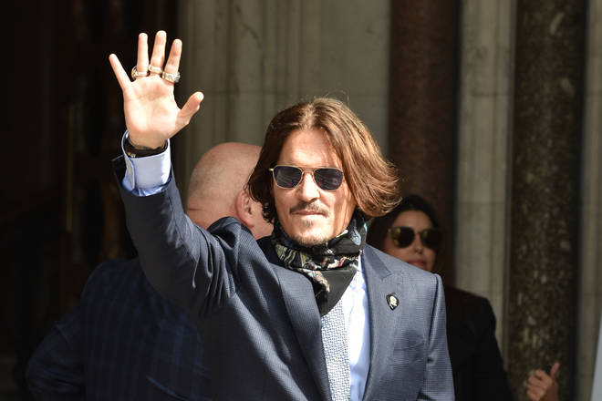 File photo: Johnny Depp arrives at the Royal Courts Of Justice in London