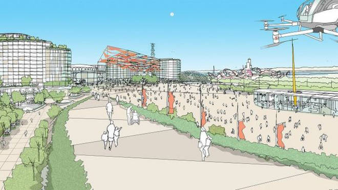 An artists impression of the proposed park