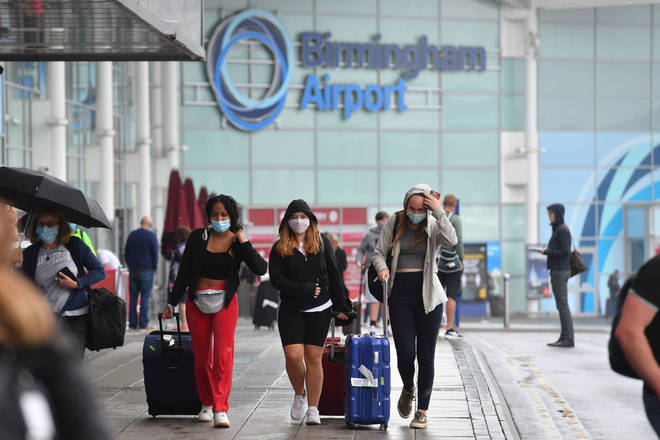 Three people return to Birmingham Airport