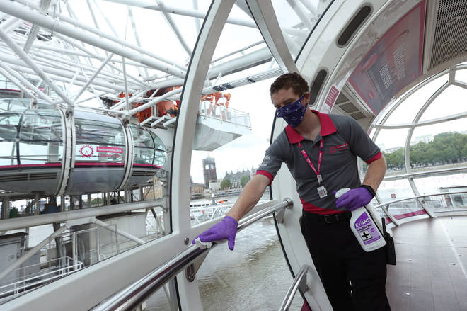 Hygiene will be front and centre at the London Eye