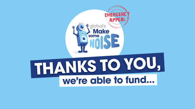 Global's Make Some Noise is giving out grants from its emergency appeal