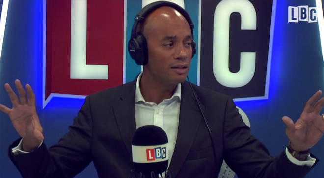 Chuka Umunna standing in for James O'Brien, as part of a week of guest hosts on LBC