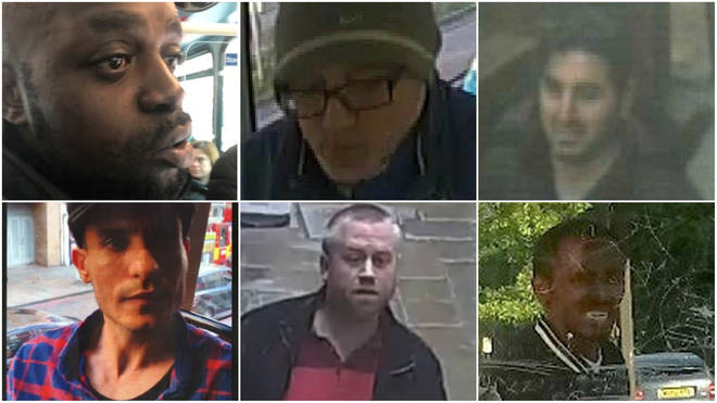 Police want to identify these men over a series of sexual assaults on buses
