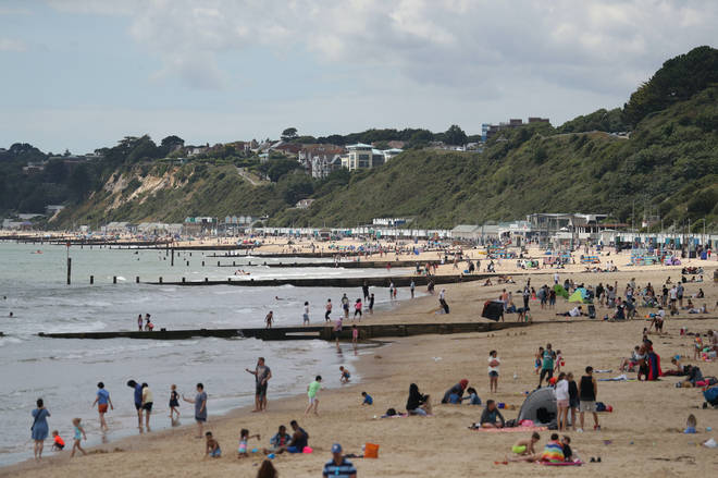 Sunseekers headed to Bournemouth Beach on Tuesday