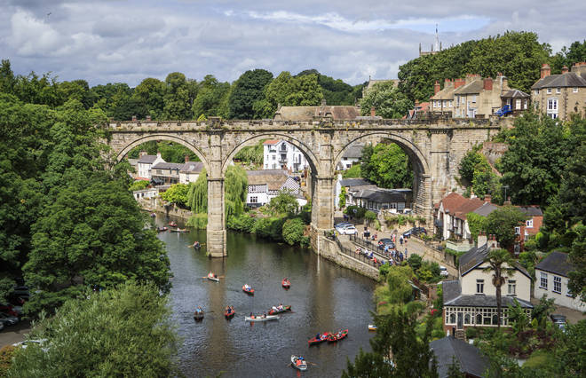 Rowers enjoyed the warmer temperatures in Knaresborough, North Yorkshire, this week