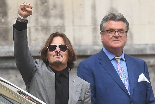 Johnny Depp leaves the High Court in London following the final day of hearings in his libel case against the publishers of The Sun
