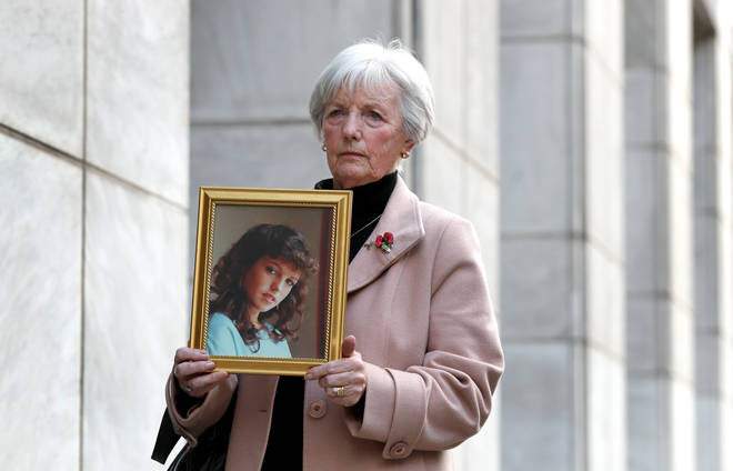 Marie McCourt, mother of Helen McCourt, after she gave evidence at a Parole board hearing
