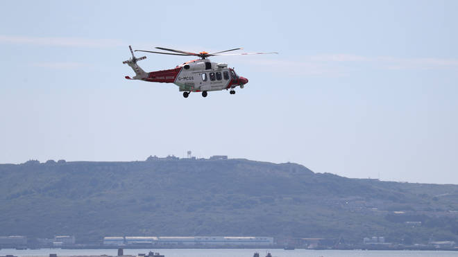 File photo: The HM Coastguard search and rescue helicopter attended the incident in Dymchurch