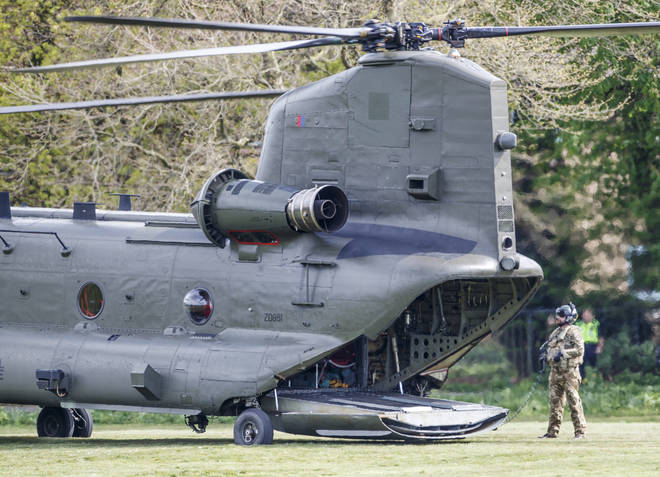 File photo: The Chinook helicopter was on a training flight