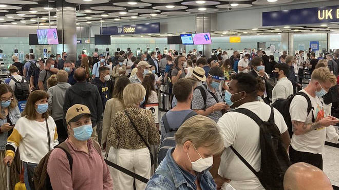 Heathrow Airport has seen large queues in recent weeks