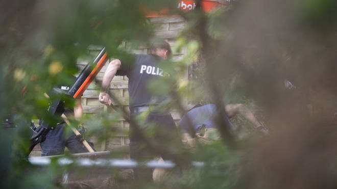 German Police have yet to comment on the media claims a cellar has been found.