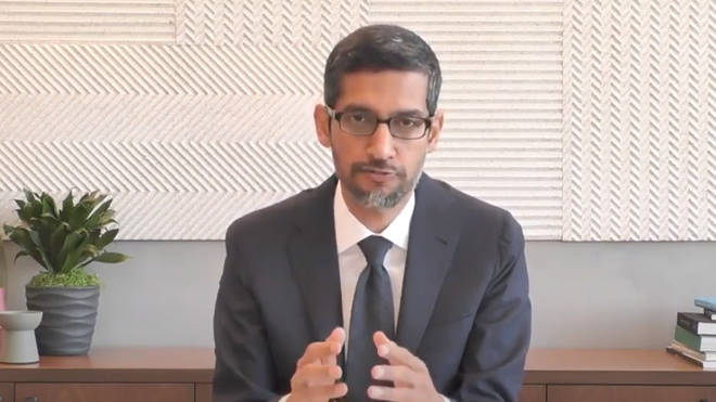 Sundar Pichai told the committee Google tries to be 'helpful and relevant'