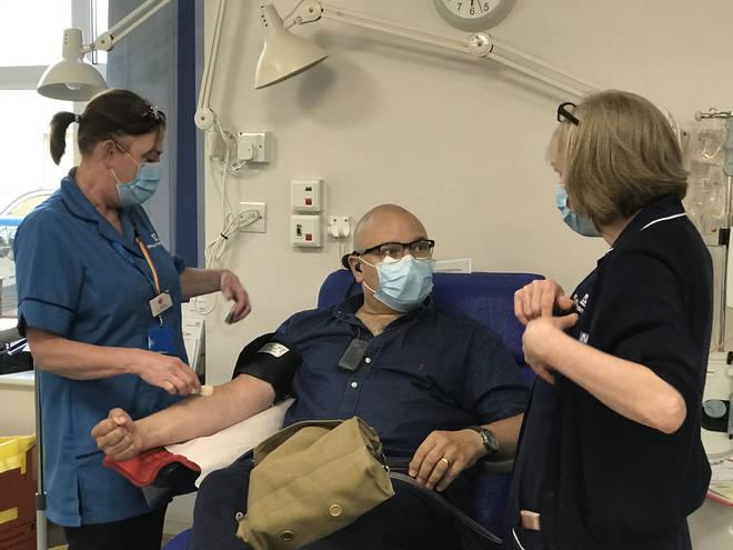 Paramedic Richard Webb-Stevens, 46, was left critically ill with coronavirus
