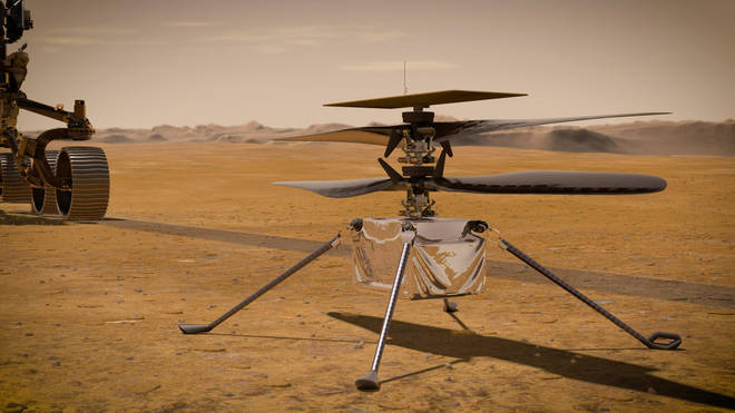 A Nasa depiction of the rover which will search for signs of alien life