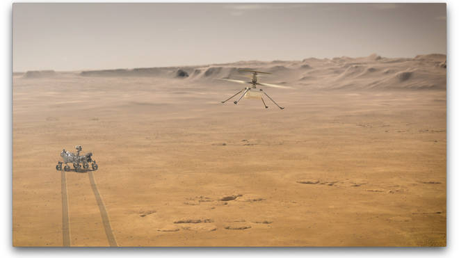 The pioneering mission will also feature a helicopter