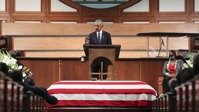 President Obama made a powerful speech at John Lewis' funeral