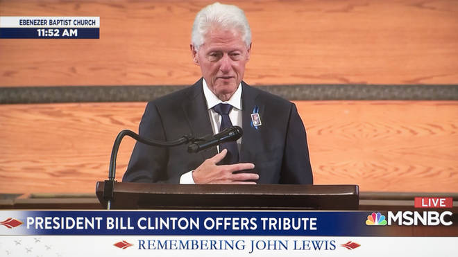 Former President Bill Clinton paid tribute