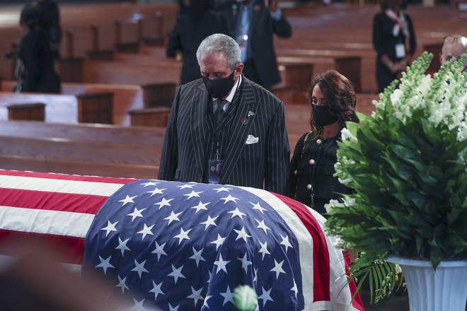 John Lewis was laid to rest at  at Ebenezer Baptist Church