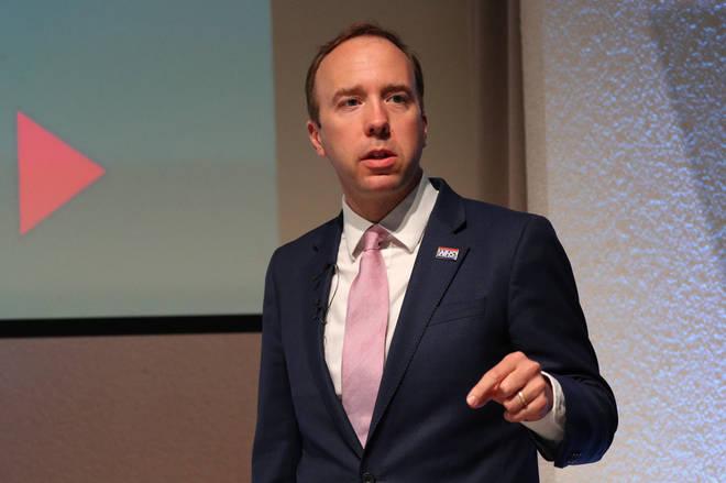 Health Secretary Matt Hancock made the announcement on Thursday
