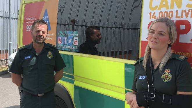Paramedics Michael Hipgrave and Deena Evans are still recovering from the attack
