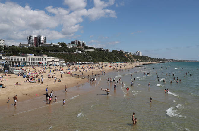 In June - a major incident was declared when thousands flocked to Bournemouth beach.