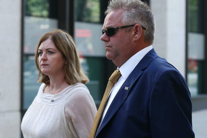 Pc Harper's parents arrived at the Old Bailey on Friday morning