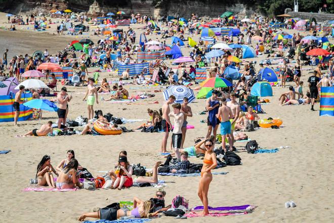 Barry Island beach was busy