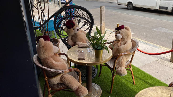 The bears are being used to ensure social distancing is followed
