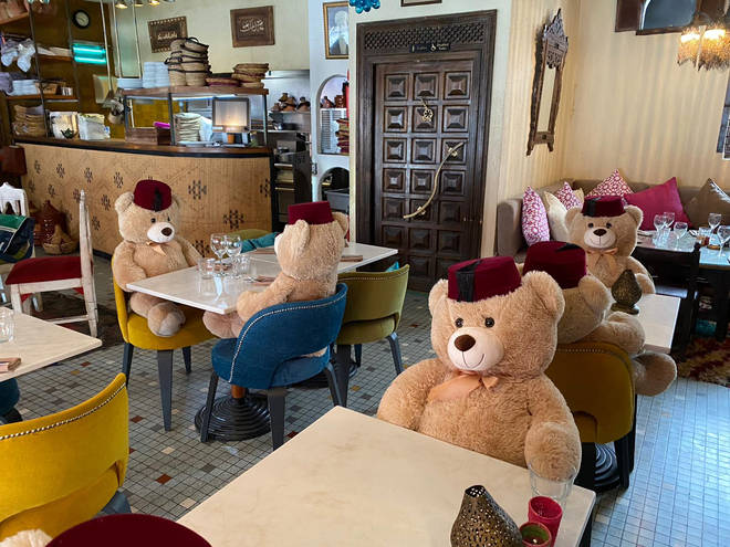 The owner has used a novel idea to fill up the seats in his restaurant