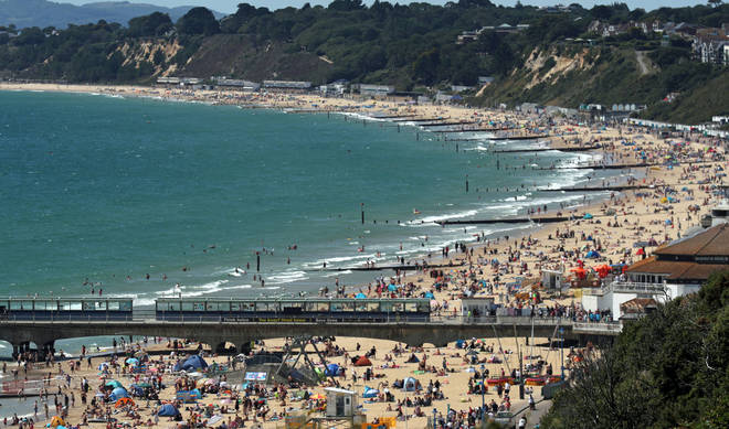 Bournemouth beach was busy again on Sunday 2 August