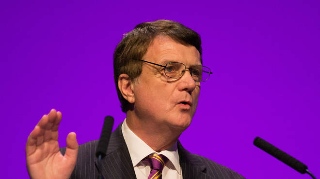 Gerard Batten speaking at the 2018 UKIP Party Conference
