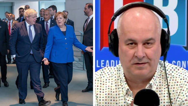 Iain Dale's caller said the UK had supported its people during the pandemic better than Germany