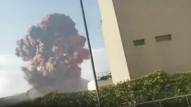 The blast was felt in Cyprus, over 100 miles away