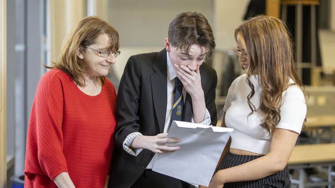 Pupils in Scotland received their exam results on Tuesday