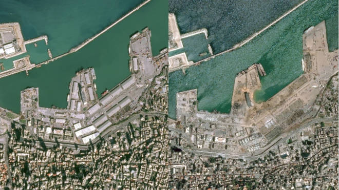 The port was descimated by the explosion