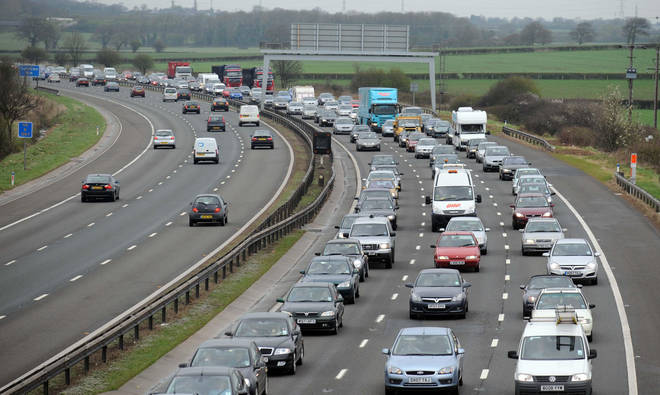 The incident happened on the m5 motorway (file image)