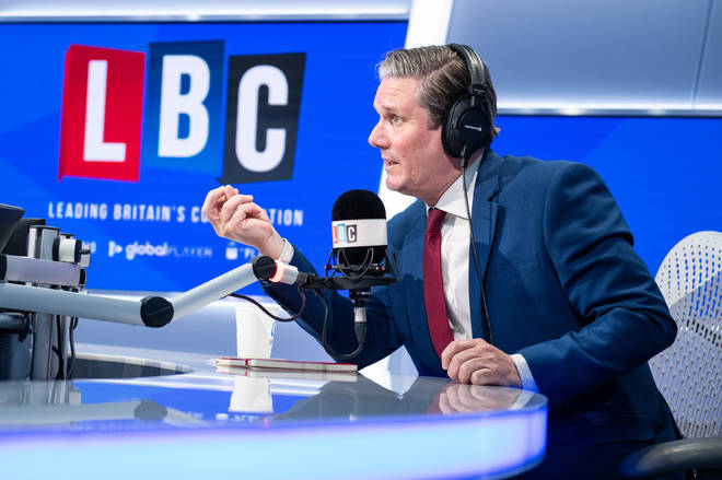 Labour leader Sir Keir Starmer has been taking calls from LBC listeners since June