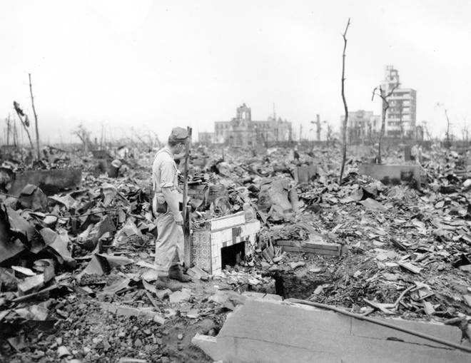 Survivors witnessed how the bomb had flattened Hiroshima and left few buildings standing
