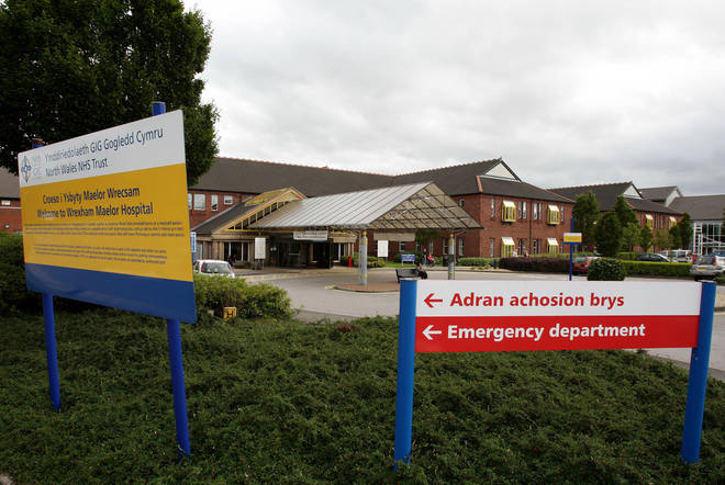 Wrexham Maelor hospital has seen a spike in Covid-19 cases