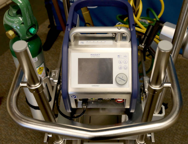 Extra corporeal means 'outside the body', a membrane oxygenator is a piece of equipment which delivers oxygen into the patient's blood.