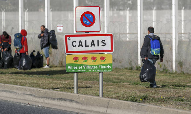 Many migrants continue to camp near the Calais border crossing