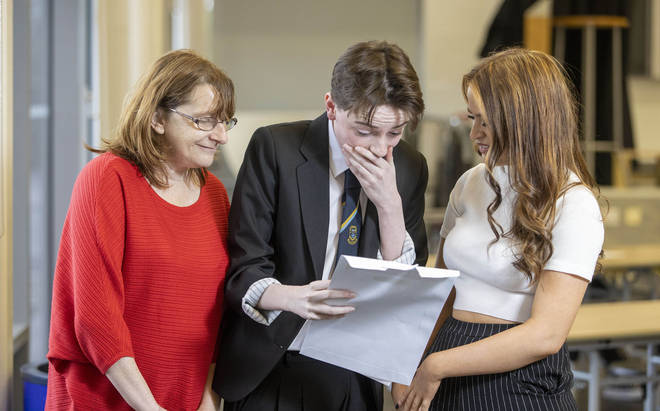 A quarter of pupils in Scotland receiving their results this week had grades lowered
